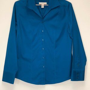Chico's Blue Button Down shirt Long Sleeve small